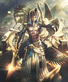 Faraó Quéfren (Rider), NP: Esfinge de Gizé Fantasy Character Design, Character Inspiration, Character Art, Anime Egyptian, Egyptian Art, Egypt Concept Art, Ancient Egypt Art, Egyptian Costume, Egyptian Pharaohs