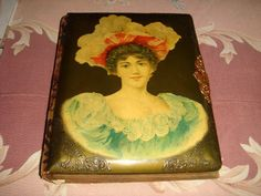 Antique Victorian Celluloid and Velvet Photo Album.