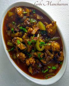 Easy Indian Recipes, Ethnic Recipes, Cauliflower Manchurian, Gobi Manchurian, Vegetarian Gravy, Non Stick Pan, Kung Pao Chicken, Veggies, Chinese