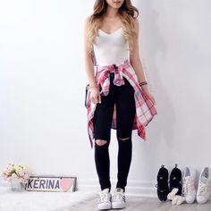 Outfits súper chic con camisa amarrada a tu cintura- - Source by FaustinaBurke outfits chic Cute Summer Outfits, Cute Casual Outfits, Stylish Outfits, Spring Outfits, Winter Outfits, Stylish Clothes, Summer Shorts, Cute Fashion, Teen Fashion