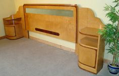 Art Deco Epstein Satinwood And Amboyna Bed - Antiques Atlas