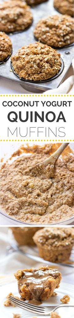 Try these SKINNY quinoa muffins for breakfast -- they're light, healthy and so easy to make [gf, vegan + refined sugar-free too]