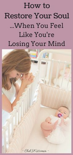Do you ever feel like you're losing your mind? You're too tired or stressed to think straight? 4 solid, simple ways a mom can restore her soul - and sanity! Parenting Articles, Parenting Hacks, Break A Habit, Lose Your Mind, Gerber Baby, Strong Women Quotes, Baby Shower, Spiritual Health, Happy Mom