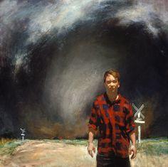 John Brosio –Harbinger (Self-Portrait) 48 x 48 1995 Tornado Paintings