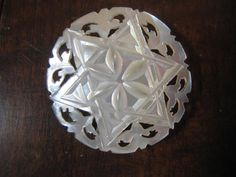 mother of pearl carving from Holy Land [I have a similar one to this.]