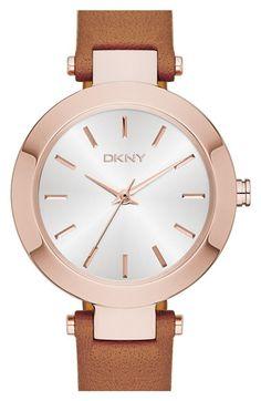 f54da0f7d8b DKNY  Stanhope  Leather Strap Watch