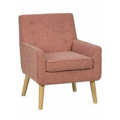 Jofran's Mila Mod accent chair is equal parts comfortable and stylish - a tribute to modern trends with a distinctly chic feel. Tweed-look upholstery in...