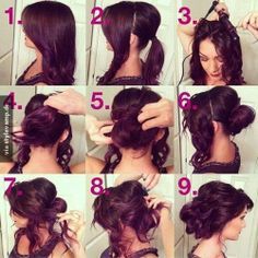 Prom Hair Tutorial Updo, New Concept! - Do you want to hairstyle prom like prom hair tutorial updo? Talking about hairstyle trends, hair cutting style and Up Hairstyles, Pretty Hairstyles, Wedding Hairstyles, Wedding Updo, Graduation Hairstyles, Medium Hairstyles, Bridal Updo, Formal Hairstyles, Diy Bridal Hair