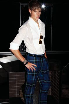 """""""The World of Tom Ford :: Men's Blue Plaid Trousers #fashion"""""""