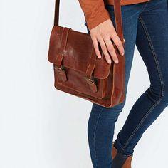 BuyFat Face Claire Leather Satchel Bag, Tan Online at johnlewis.com