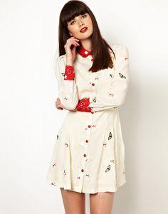 Niche Butterfly Shirtdress -- $123.13