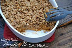 baked pumpkin pie oatmeal...hopefully this will cure the mushy oatmeal hater in me