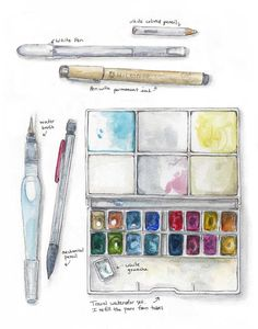 WATERCOLOR TRAVEL KIT | Sketch Kit