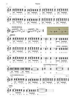riptide by vance joy ukulele strumming chart by thw88z 39 greg 39 1 of 2 ukulele in 2019. Black Bedroom Furniture Sets. Home Design Ideas