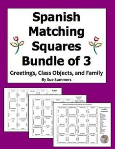 Spanish house flashcards and game cards with vocabulary by sue spanish matching squares puzzles bundle of 3 family class objects greetings m4hsunfo