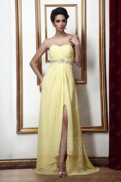 #DressWe - #DressWe Sweetheart Floor-Length A-Line Talines Party/Evening Dress - AdoreWe.com
