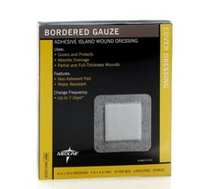 Medline Sterile Bordered Gauze - x x pad) - Case of 150 - Pressure Ulcer, Wound Dressing, Time To Celebrate, Feeling Loved, Latex Free, Shopping Hacks, Health And Beauty, Adhesive, The Cure