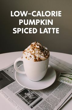 Welcome cooler fall days by sipping a lower- calorie version of a fall favorite, the Pumpkin Spiced Latte. Made with Truvia® Natural Sweetener, this recipe has 40% less sugar than the original sugar-sweetened version and makes 2 servings, so there's one for you and a friend.