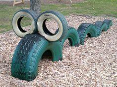 "playground tires | little ""caterpillar"" | Natural Solitude | Flickr"