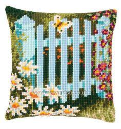 Buy Garden Gate Cushion Front Cross Stitch Kit online at sewandso.co.uk