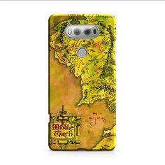 Middle Earth Map LG V20 3D Case