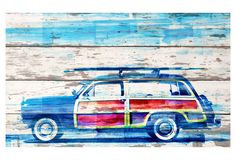 One Kings Lane - Innovative Works of Art - Surf Day, Reclaimed Barn Wood