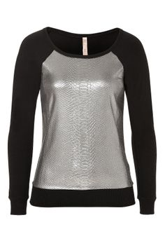 Bailey 44 Sweatshirt with Snake Silver Foil Print Panel.