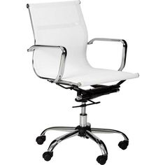 Replica Eames Mesh Fabric Office Chair in White | Buy Boardroom Chairs