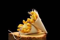 Boucles d'oreilles Cornet de Frites