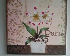 Placa Decorativa Orquídea Paris