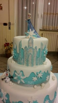#frozen #cakedesingn #frozencake #elsa #anna #olaf #disney #filmdisney #disneycake #disneycakefrozen #birthdaycake #kids #pdz #pastadizucchero #tortedecorate #torte #compleanno #tortedicompleanno