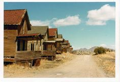Old ghost town in the hills outside of Albuquerque , New Mexico