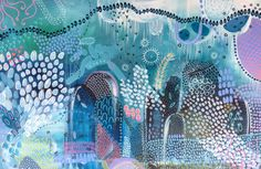 """""""Blue Sounds"""" by Adelin Hill. Paintings for Sale. Bluethumb - Online Art Gallery"""