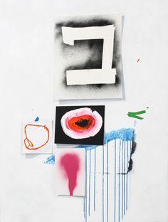 "Fiona Ackerman. HETEROTOPIA: HEAR SOUND SEE COLOUR,Acrylic on canvas,36 "" x 47.5"", 2011"