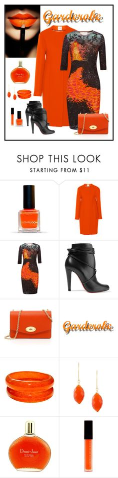 """""""Peter Pilotto J Print Cady Dress Look"""" by romaboots-1 ❤ liked on Polyvore featuring Narciso Rodriguez, Peter Pilotto, Christian Louboutin, Mulberry, Klein & more, Uzerai Edits, Houbigant and Le Métier de Beauté"""