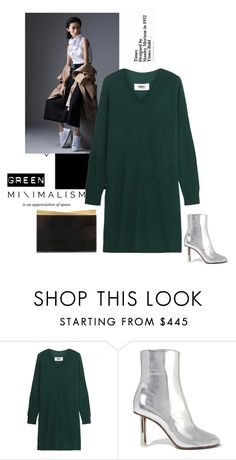 """""""Green life"""" by iriadna ❤ liked on Polyvore featuring MM6 Maison Margiela, Vetements, Nathalie Trad, metallic, greenday, Minimaliststyle and sweaterdress"""