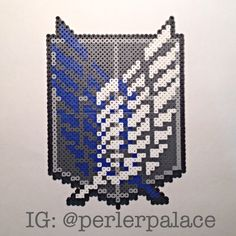 Wings of Freedom - Attack on Titan perler beads by perlerpalace