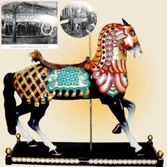 Lead Horse from Feltman's Luna Park Carousel, Coney Island, NY. The only known figure to have survived the fire that destroyed the carousel.