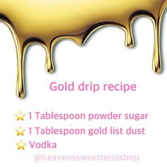 If you watched the video we posted last night with the gold drip wonder how to m… - Cake Decorating Simple Ideen Cake Decorating Techniques, Cake Decorating Tutorials, Cookie Decorating, Decorating Cakes, Decorating Websites, Decorating Ideas, Bolo Drip Cake, Drip Cakes, Cake Icing