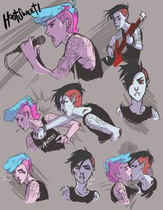 Punk love | Marshall Lee x Prince Gumball | GumLee | Adventure Time