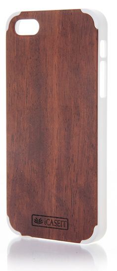 iCASEIT Wood iPhone Case - Genuinely Natural, Unique & Premium quality for iPhone 5 / 5S - Rosewood / White: Amazon.co.uk: Electronics