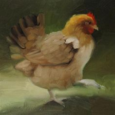 """Daily Paintworks - """"Chicken painting of farm animal"""" - Original Fine Art for Sale - © Diane Hoeptner Best Egg Laying Chickens, Chickens And Roosters, Pet Chickens, Chickens Backyard, Chicken Painting, Chicken Art, Chicken Pictures, Rooster Art, Blue Eggs"""