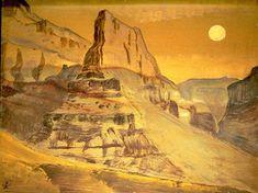 Grand Canyon, 1921 de Nicholas Roerich (1874-1947, Russia)