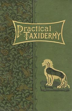 cover of a 19th century book on practical taxidermy