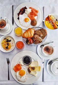 Breakfast at Panorama Golfhotel, Thurgau ✨ Breakfast Menu, Morning Breakfast, Food Styling, Coffee, Ethnic Recipes, Table, Beautiful, Meals, Food Trip