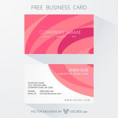 Clean Business Card Free Vector #vecree #free #vector #download #businesscard #business #card