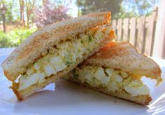 """Plain Chicken: The Masters Egg Salad MASTERS Augusta egg salad. one person said, """"THE best egg salad sandwich I've ever had! Making this for lunch today!"""" It is the perfect sandwich for watching The Masters this weekend Think Food, I Love Food, Good Food, Yummy Food, Egg Salad Sandwiches, Sandwich Recipes, Salad Recipes, Egg Sandwich Recipe Pinoy, Steak Sandwiches"""