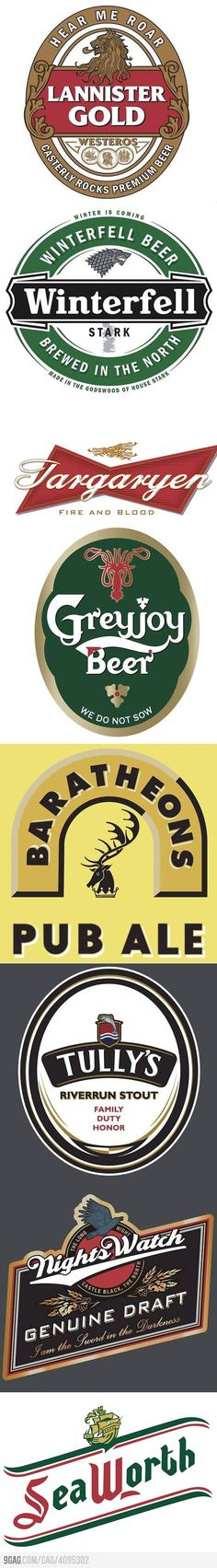 Game of Thrones - Beer Labels (also perf for an Engagement Party, Signature Drink, or Groomsmen Brunch!)