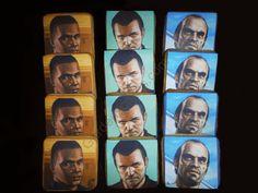 Garden´s Cakes Galletas Grand Theft Auto V Garden Cakes, Grand Theft Auto, Garden S, Portrait, Birthday, Birthdays, Portrait Illustration, Portraits, Birth Day