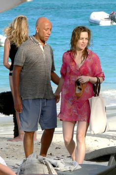 Russell Simmons and Melissa George in St Barts